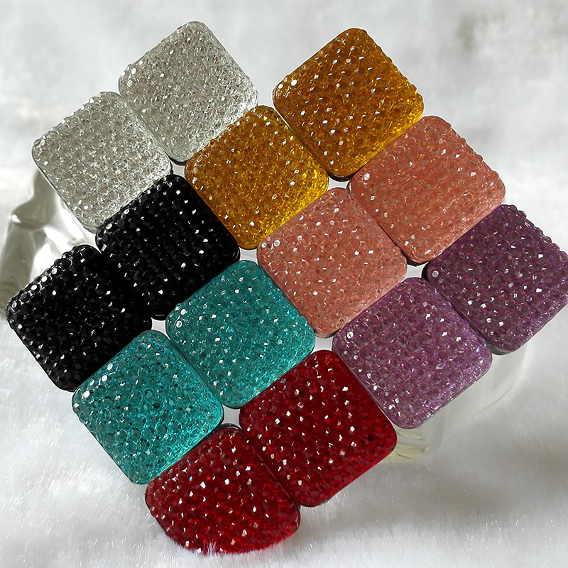 Square Magnet Brooch For Women Exquisite Rhinestone Magnetic Brooches - Fashion Jewelry - Photo 6