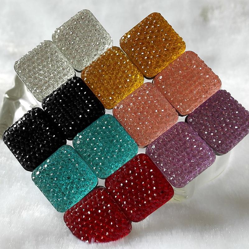 Persegi Magnet Bros Untuk Wanita Gaya Indah Berlian Imitasi Magnetic - Perhiasan fashion - Foto 6