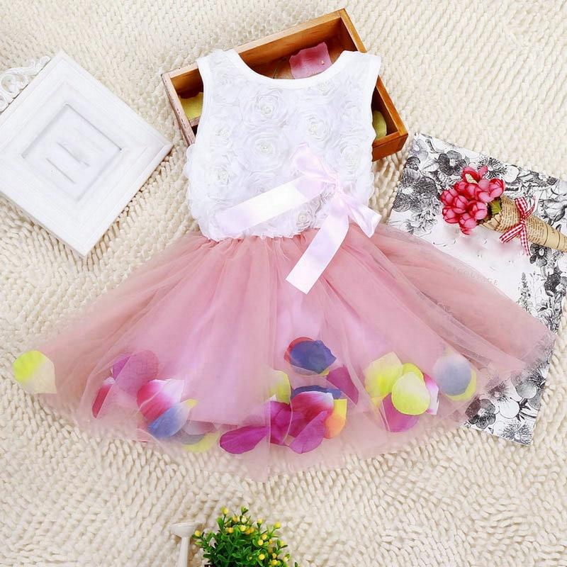 Csecsemő kisgyermek baba lányok hercegnő ruha fél tutu csipke íj virág ruhák ruhák gyerekek Vestidoes