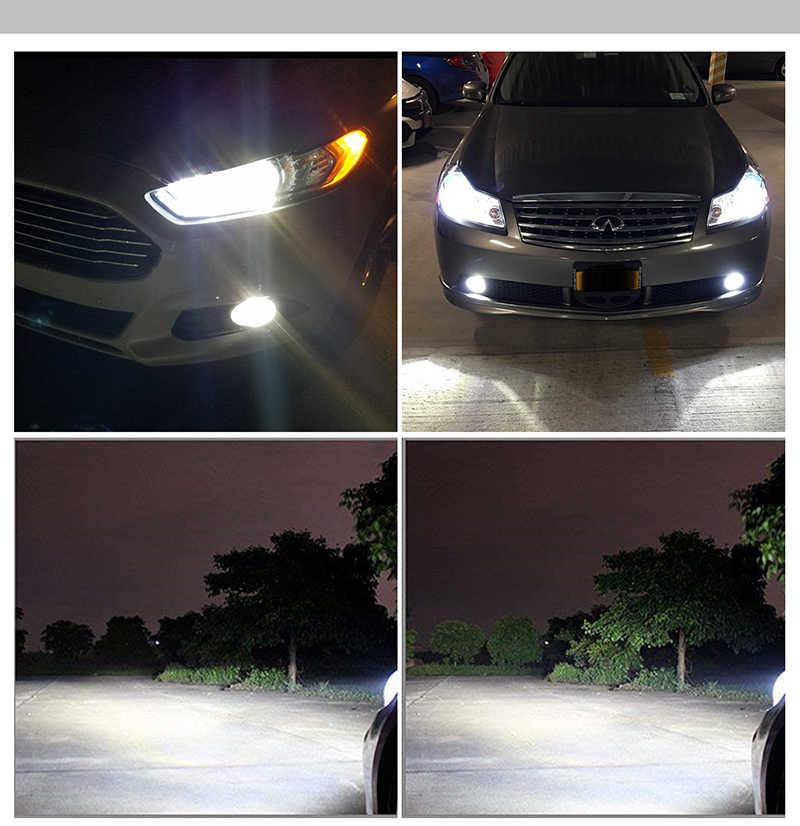 BraveWay H4 LED H7 פנס H11 H8 אוטומטי מנורת 9005 HB3 9006 HB4 12 V 80 W 12000LM 6500 K CSP שבב LED ערפל לרכב אופנוע