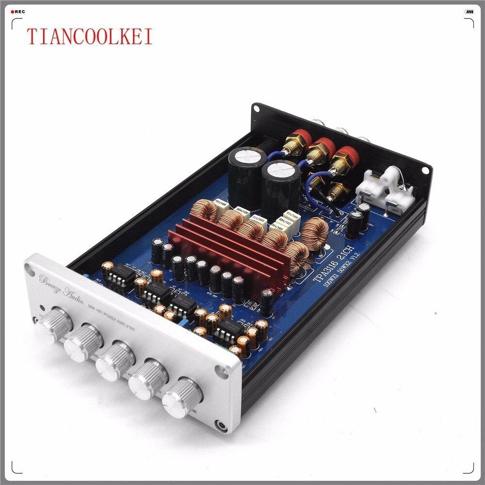 F21 mise à niveau de tonalité sonore indépendante haute et basse TPA3116D2 2.1 canaux canal gauche et droit 50 W + 50 w + 100 w amplificateur de Subwoofer