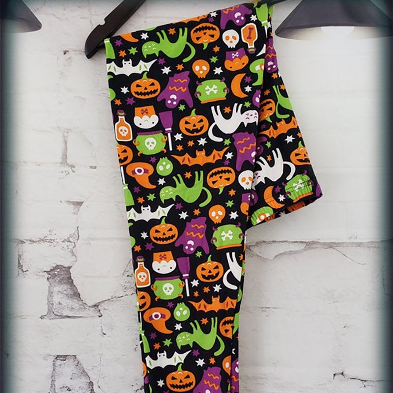 8 Colors Women's Halloween Leggings Digital Print High Waist Pants Workout Push Up Leggins Mujer Knitted Sexy Christmas Leggings