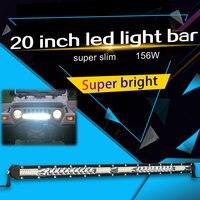 Super Slim 10D 20 Led Work Light 12V 104W Led Bar Combo Spot Flood for Lazda Jeep ATV Boat Trucks Tractor Driving Light Bar