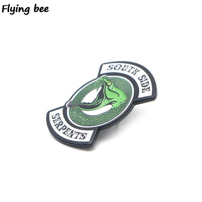 Flyingbee Riverdale Green Snake Enamel Pin Tas Ransel Lencana Kepribadian Bros Kemeja Kerah Pin X0195
