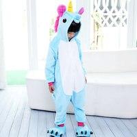 One Piece Unisex Crianças Unicórnio Pijamas Crianças Conjuntos de Pijama Animal Traje Anime Cosplay Pijamas Winter Party Tenma unicornio