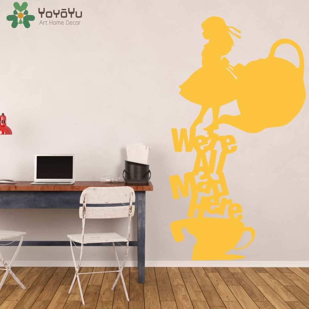 Alice In Wonderland Wall Stickers For Kids Rooms Tea Party Wall ...