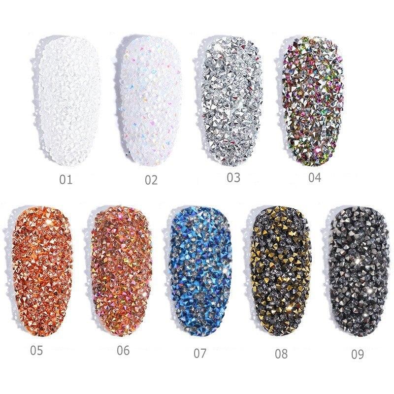 Us 11 34 Off1 Box Ab Clear Tiny Mini Nails Rhinestone Micro Diamond 3d Nail Art Glitter Rhinestones Decorations Crystal Nails Accessory Nr31 In