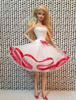 Genuine Original Special new case for Barbie doll dress clothes fashion princess dress Random
