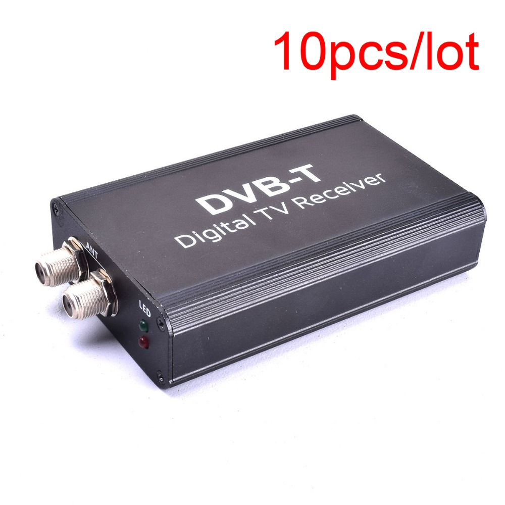 10PCS Auto Digital TVBox DVB-T T1 MPEG4 H.264HD Dual Antenna Strong Signal Europe Universal for Stereo GPS Navigation DVD Player 1080p mobile dvb t2 car digital tv receiver real 2 antenna speed up to 160 180km h dvb t2 car tv tuner mpeg4 sd hd
