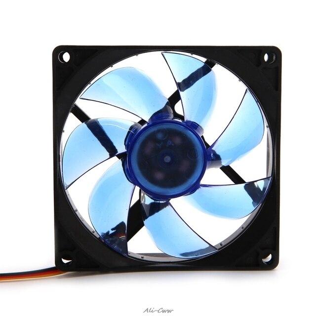 90ミリメートルledライト3pin pcのデスクトップコンピュータケース冷却クーラーファン低ノイズ9025グリーン/レッド/ブルー