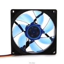 90mm luz led 3pin computador desktop caso ventilador de refrigeração refrigerador baixo ruído 9025 verde/vermelho/azul