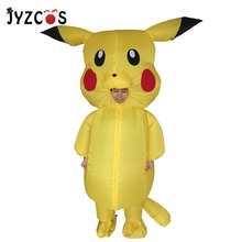Pikachu Costume for Kids Adult Pokemon Cosplay Inflatable Halloween Costumes Outfit Men Women Blowup Mascots Fancy Dress Suit имидж мастер кресло косметолога к 01 механика 33 цвета белый 9001