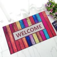 45x75cm Super Thin Rubber Floor Mats Colored WELCOME Design Carpet for Door Store Toilet Rugs Porch Doormat