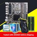 Buena calidad HUANAN ZHI X58 placa base con CPU Intel Xeon X5675 3,06 GHz 16G (2*8G) tarjeta de vídeo de GPU de memoria de registro ECC GTX750Ti 2GD5