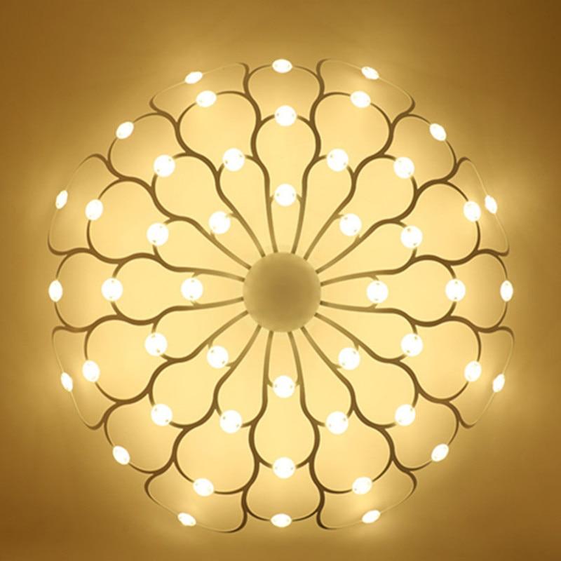 Ceiling Lights Lights & Lighting 1 Set Modern Led Ceiling Light For Home Living Creative Art Deco Petal Led Droplight Bulb Decoration Lamp Lighting