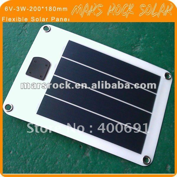 6V-3W-230*190mm Flexible Amorphours Silicon Solar Cell Panel