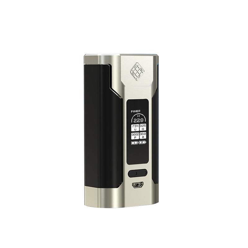 Prix pour D'origine WISMEC Prédateur 228 Boîte Mod PRÉDATEUR 228 W E-cigarette Vaporisateur Mod (RC Adaptateur non inclus)