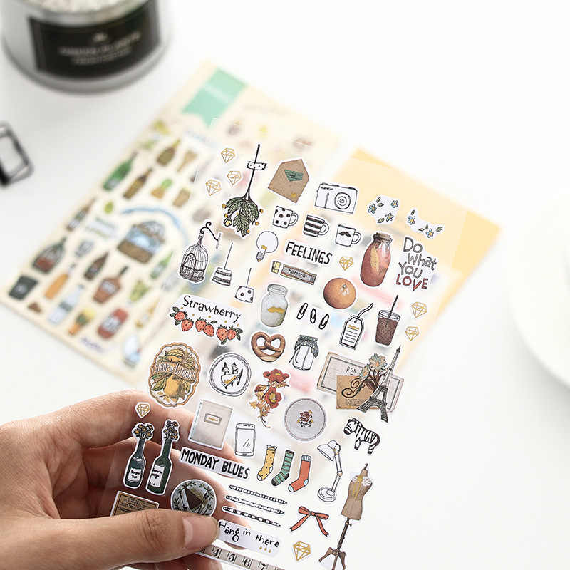 Cute Decorative Lifelog Stationery Stickers Bullet Journal Kawaii Hand Made Japaness Paper Scrapbooking Sticker Diary Album