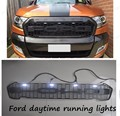 HIGH QUALITY RANGER FRONT PROTOR BLACK LIT GRILL with LED day light FOR Ford RANGER 2015 2016 GRILL