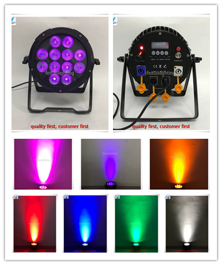 A- 12x Wireless Up Lights,12x12w RGBWA+UV LED Battery Powered Dj Uplighting With WiFi Smart Par App Control For Wedding Events ...