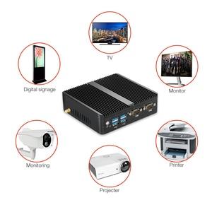 Image 2 - HLY Mini PC Dual LAN Celeron N2810 Celeron J1900 Mini Computer Gigabit LAN Windows 7 pfsense firewall PC Mini 2*COM HDMI TV BOX