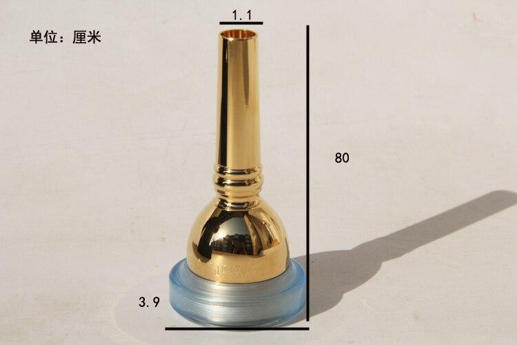 Мундштук для тромбона 6 1/2AL предупреждение металла, не вызывает аллергию - Цвет: 01
