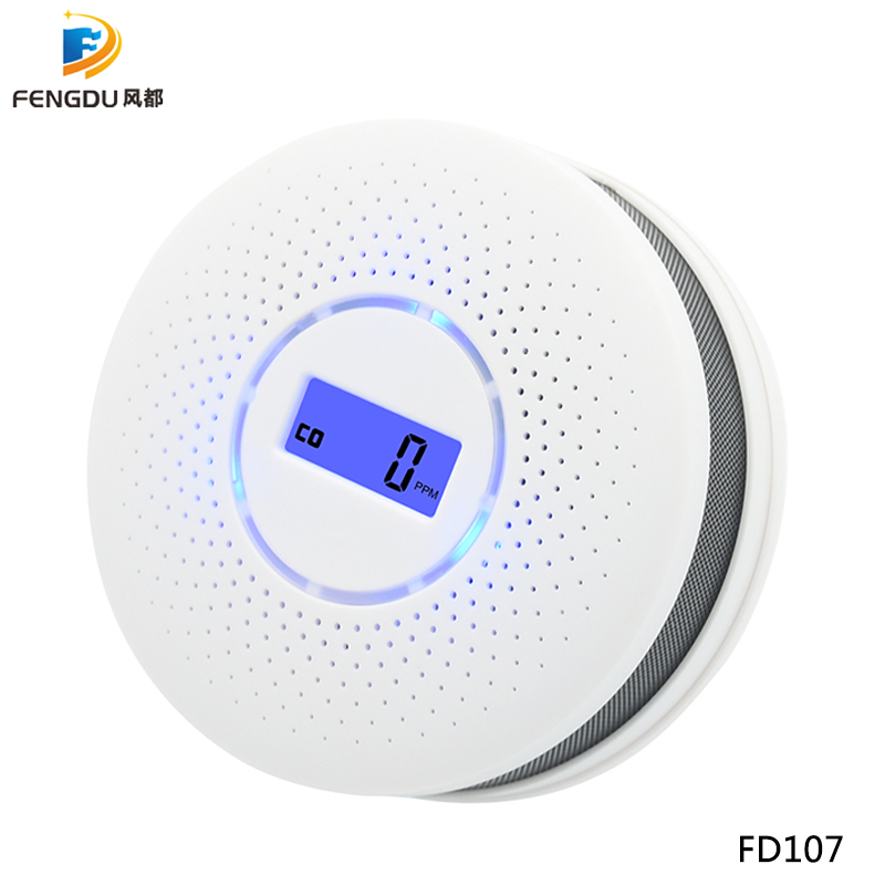 Newest 2 in 1 LED Digital Gas Smoke Alarm Co Carbon Monoxide Detector Voice Warn Sensor Home Security Protection High Sensitive 3