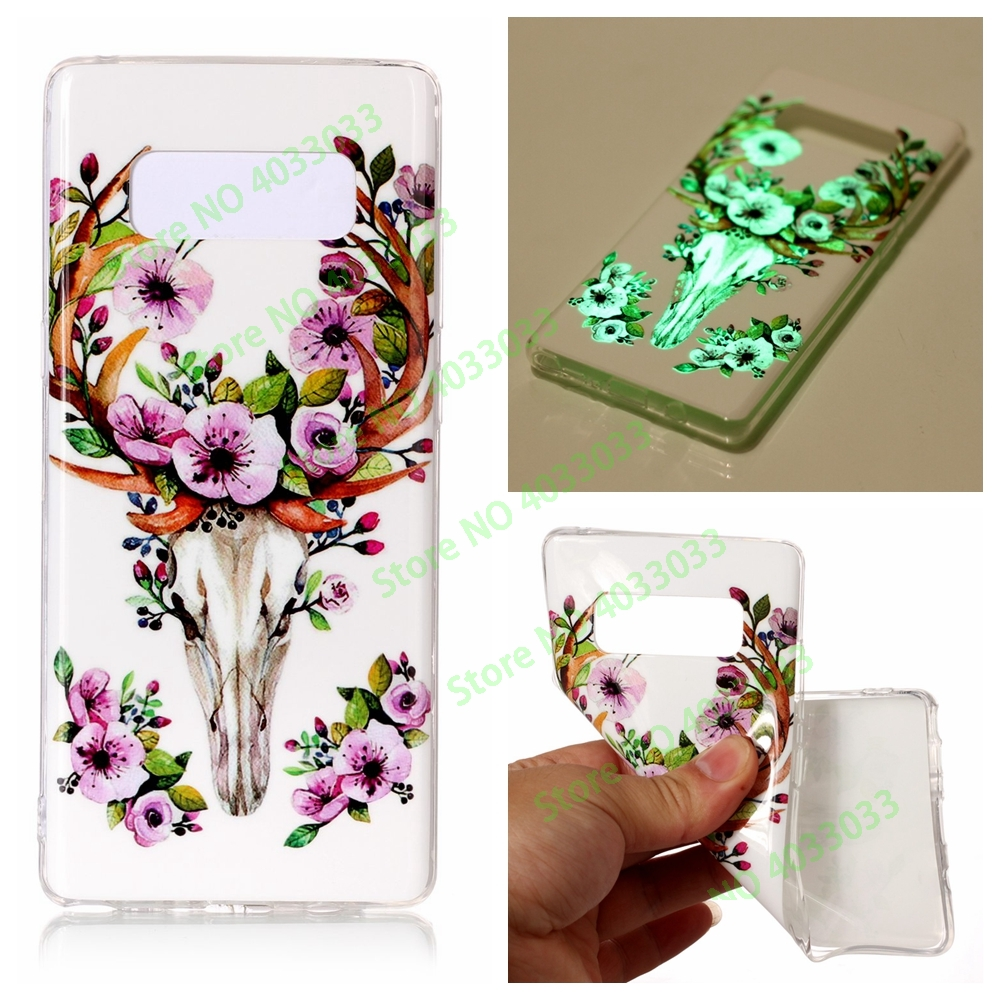 Luminous Case for <font><b>Samsung</b></font> <font><b>Galaxy</b></font> <font><b>Note</b></font> <font><b>8</b></font> N950 <font><b>N950N</b></font> N950F N950FD SM-N950F SM-N950FD SM-N950 TPU Soft Silicone phone back case bag image