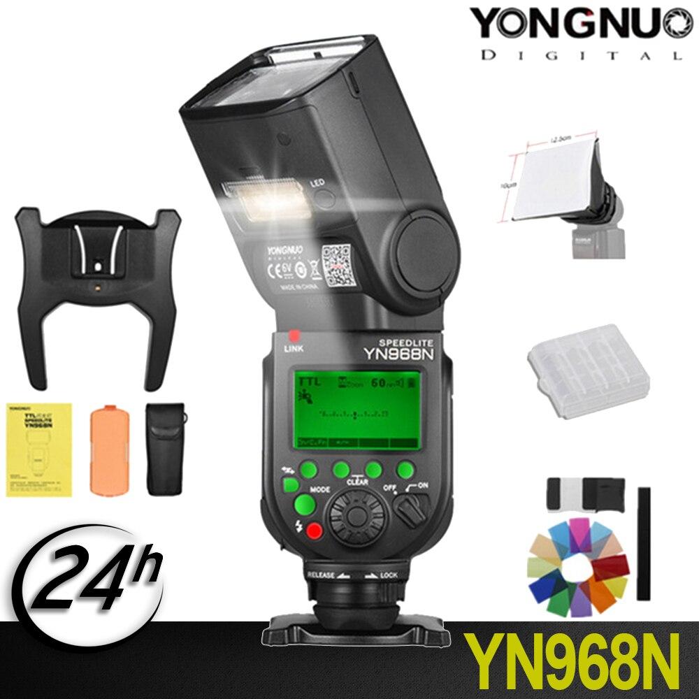D'origine YONGNUO YN968N YN 968N 2.4g Sans Fil Haute-vitesse Sync TTL 1/8000 s Flash Speedlite Auto zoom pour Nikon Appareil Photo REFLEX NUMÉRIQUE