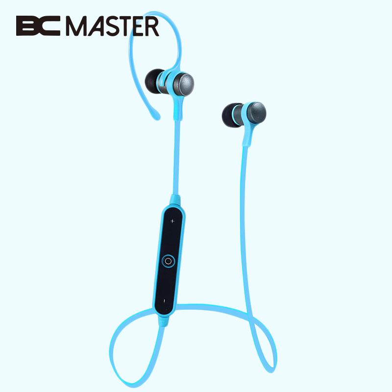BCMaster Bluetooth Wireless Sports Headset Handsfree Headphones Earphones for Music Smart Phone Call Portable