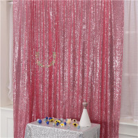 Pink Sequin Fabric Panel Wedding Backdrop Curtain \ Stage Background For Party Event Decoration