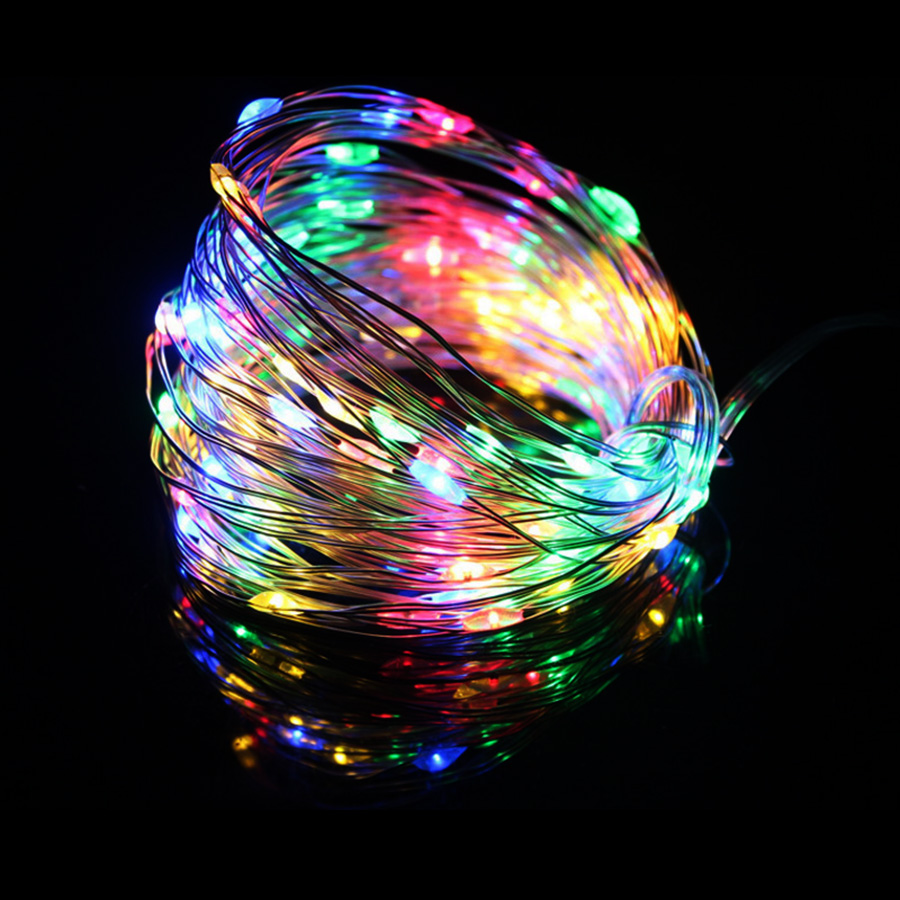Led Strings light 5m 10m 15m 20m 100Copper Wire 3XAA Battery Operated Christmas Wedding Party Decoration LED String Fairy Lights