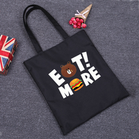 Funny Prints Shopping Bag Large Big Shopper Resuable Cloth Bag Unique Shoulder Bag For Supermarket Tote