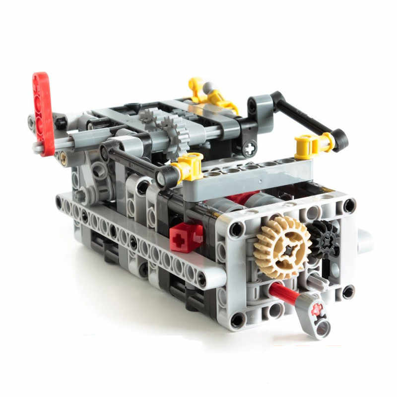 NEW MOC 8 Speed Sequential Gearbox V3 Engine gearbox V8 W12 V16 Building Block Bricks Parts DIY Toys Compatible with legoes MOC