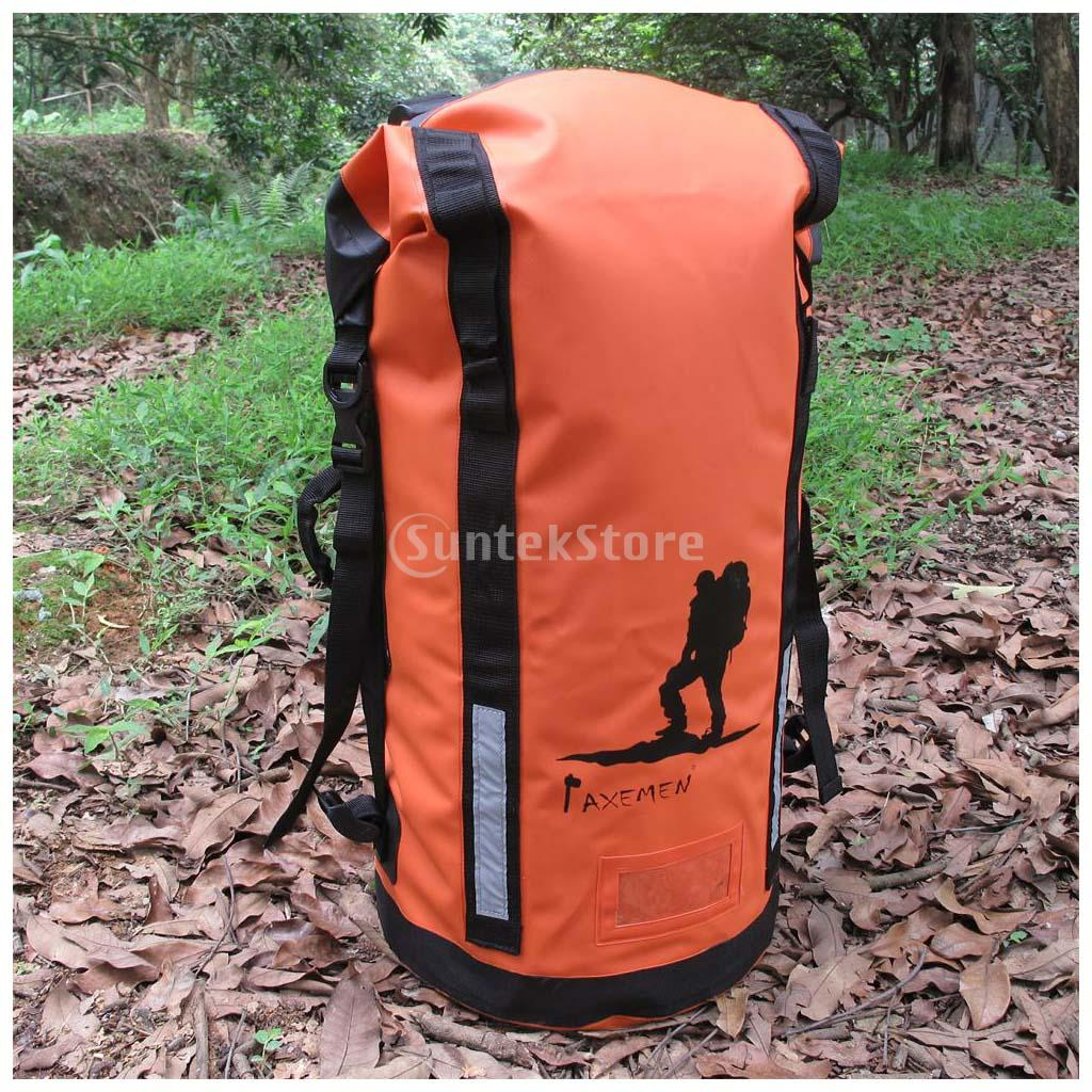 45L Heavy Duty PVC Waterproof Dry Bag Backpack Hiking Rucksack Water Sports Kayak Boat Floating Pack camel mountain 45l backpack page 7