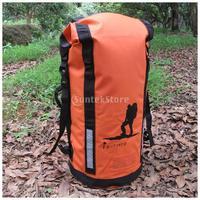 45L Heavy Duty PVC Waterproof Dry Bag Backpack Hiking Rucksack Water Sports Kayak Boat Floating Pack