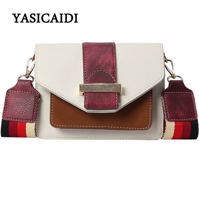 8a038c69bd8 US $19.29 40% OFF|Luxury Handbags Women Bags Designer Wide shoulder strap  Party Clutch Bags Lock High Quality Ladies Korean Style Crossbody Bag-in ...