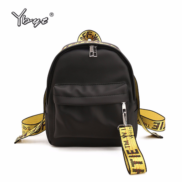 YBYT brand 2018 new preppy style letter panelled women backpack girl schoolbag ladies small travel bag student school backpacks