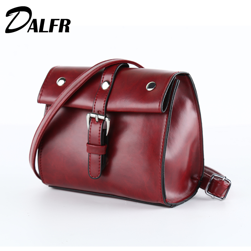 DALFR PU Leather Women Messenger Bag Fashion Crossbody Bag for Girls Female Mini Shoulder Bags Top-Handle Bag