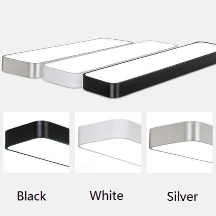Modern simplified LED aluminum rectangular balcony aisle bedroom study room office lighting ceiling light