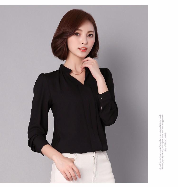 HTB16T80LpXXXXaDXVXXq6xXFXXXp - Long Sleeve Elegant Ladies Office Shirts Fashion Casual Slim Women