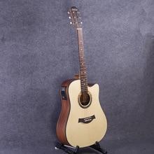 Gitarre Acoustic Elektrische Stahlsaiten Balladry Folk Pop Flattop 41 Zoll Guitarra 6 Saiten Picea Asperata Licht Cutaway Electro