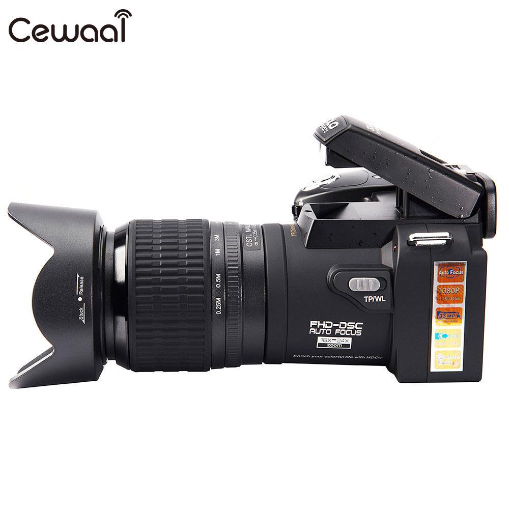 D7100 24x Téléobjectif HD AF appareils photo numériques Vidéo Caméscope Grand Angle Soutien SD Carte lampe de Poche