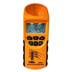 Ultradźwiękowy miernik wysokości kabla 6 kabli pomiar wyświetlacz LCD zakres pomiarowy (wysokość 3 23 m  płaszczyzna 3 15 m) inteligentny czujnik AR600E|height meter|cable height meterdisplay 6 -