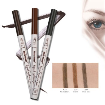 Makeup Fine Sketch Liquid Eyebrow Pen Waterproof Anti-sweat Tattooing Eye Brow Pencil Smudge-proof Long Lasting Eye Makeup sexxy secret liquid eyebrow pen