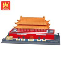 WANGE Tiananmen Square Beijing 758PCS Large Action Building Block Bricks Kits Architecture Series 2017 Children