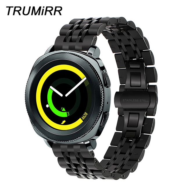 2f639708e5e 20mm Premium de Aço Inoxidável Faixa de Relógio Pulseira + Ferramenta para  Samsung Engrenagem Esporte SM