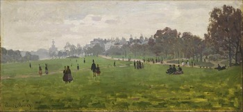 High quality Oil painting Canvas Reproductions Green Park in London (1871) By Claude Monet hand painted