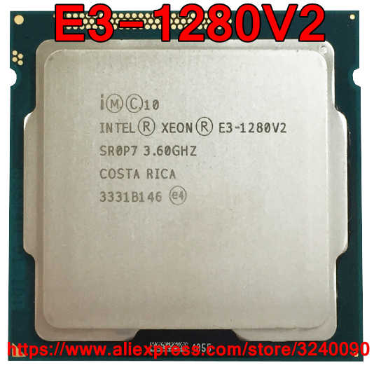 Original Intel Xeon CPU Processor E3-1280V2 3.60GHz 8M Quad-Core Socket 1155 free shipping E3 1280V2 E3-1280 V2 E3 1280 V2
