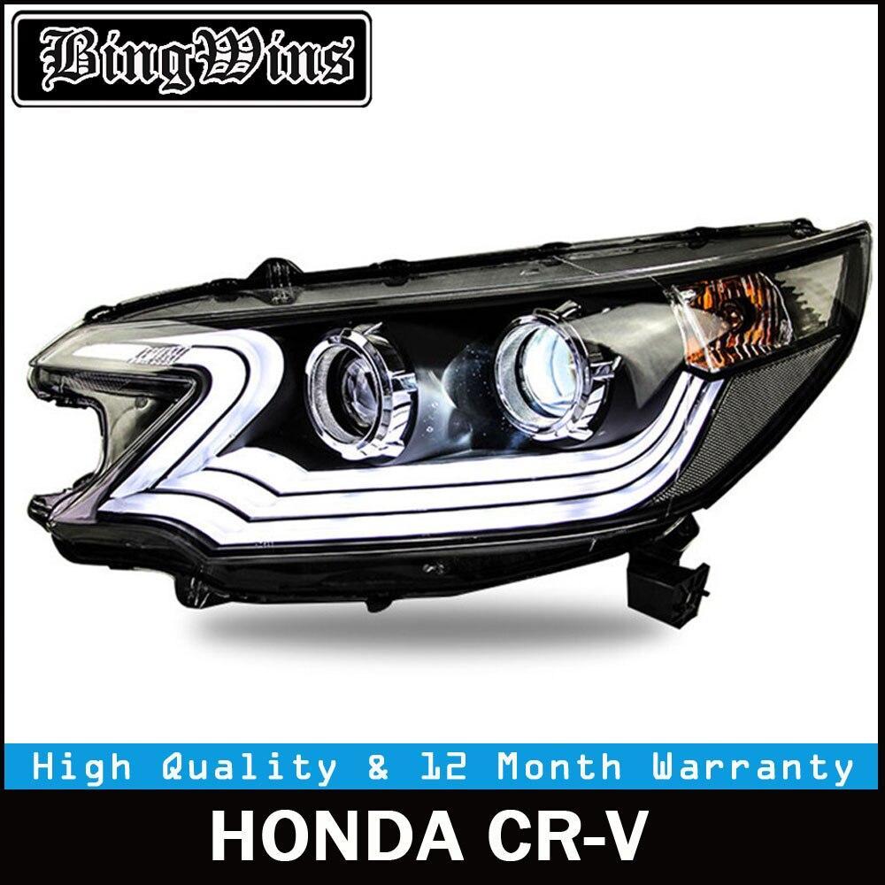 BINGWINS Car Styling Headlight For Honda CR-V CRV headlights 2012-2014 head lamp LED DRL front light Bi-Xenon Lens xenon HID